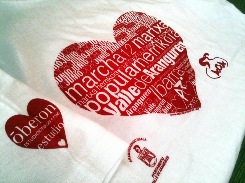 Diseño de #camiseta para Marcha Popular en #Bici #Mutilva #Pamplona