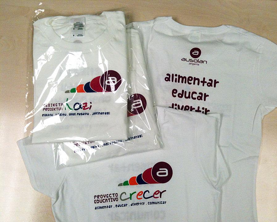 1.000 camisetas marcadas en frente y espalda